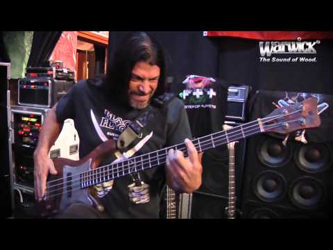 Robert Trujillo and his Warwick Custom Shop Rusty