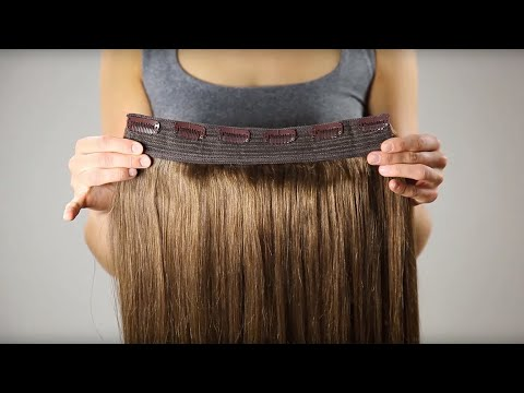 How to attach Hollywood Volume hair extensions