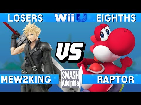 Smash 4 Wii U - Mew2King (Cloud) vs Raptor (Yoshi) - SMASHADELPHIA 2017 Losers Eighths