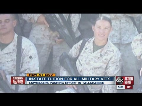 Legislation to help school bound vets pitched in Tallahassee