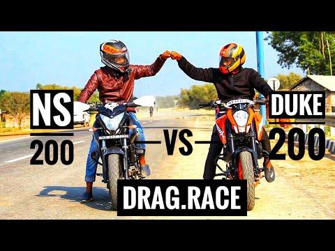 Ns200 vs Duke200🏍️Drag Race #2019