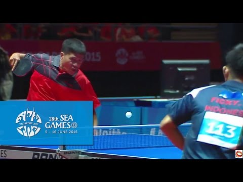 Table Tennis Men's Singles Philippines vs Indonesia | 28th SEA Games Singapore 2015