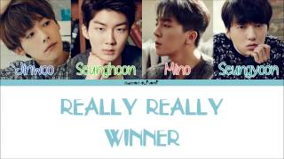 WINNER  REALLY REALLY Color Coded Lyrics HanRomEng