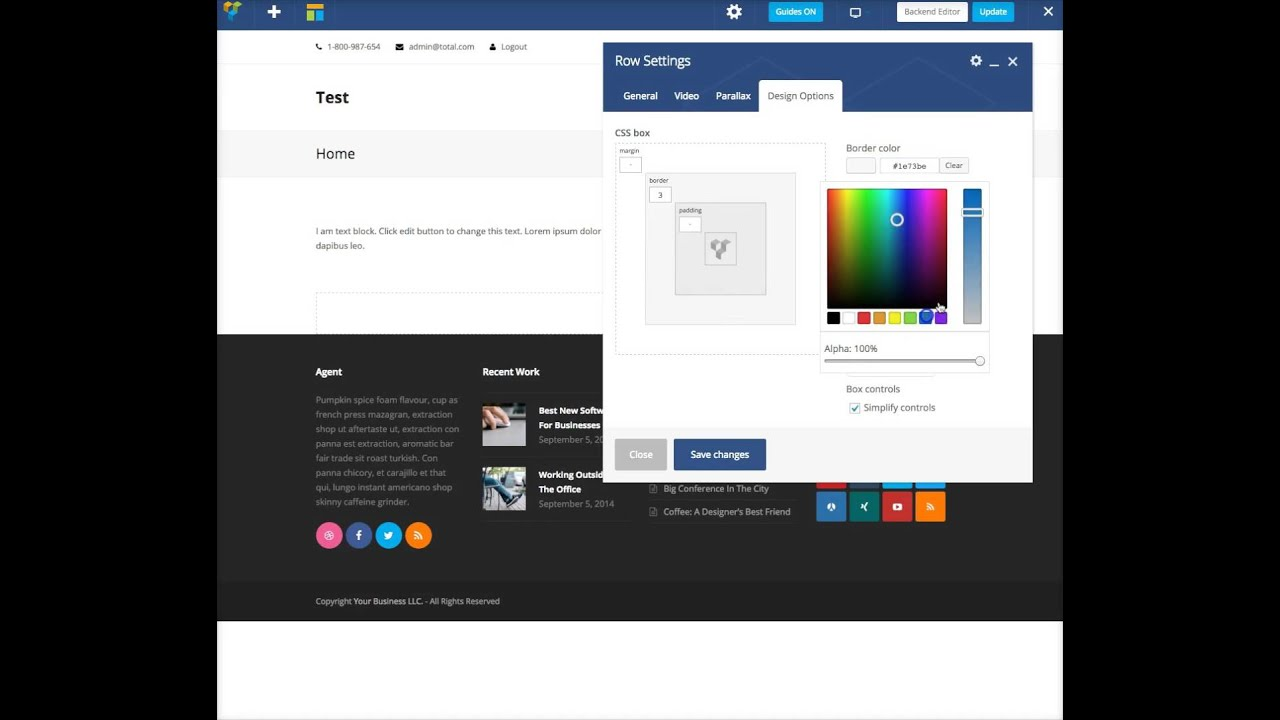 Adding Borders Using The Visual Composer Page Builder - Total ...