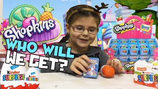 Season 2 Shopkins Surprise Shopping Basket Ultra Rares collection and Kinder Surprise New Toy Egg!