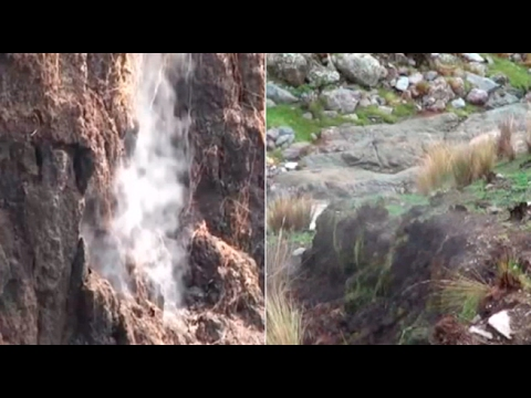 Huancavelica: alarma en Castrovirreyna por vapor que sale de la tierra