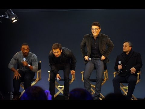 Captain America: The Winter Solider Cast Interview with Anthony Mackie, Joe Russo, Sebastian Stan