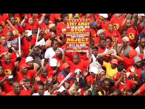 'R20 an hour is an insult': Saftu strike hits South Africa