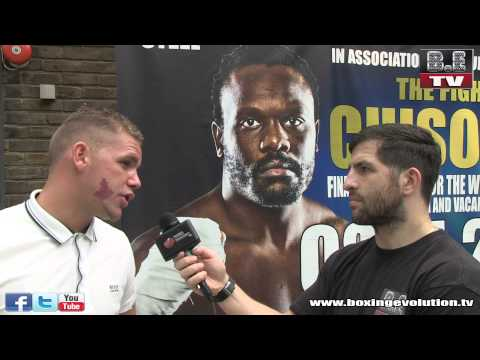 Flave interviews Billy Joe Saunders at the Warren Press conference 03/06/2014