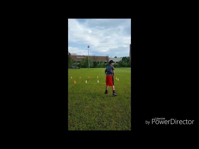 2023 QB Jordyn Potts working on his throwing mechanics