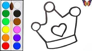 Как нарисовать КОРОНУ /  раскраска КОРОНА ИГРУШКА  для детей / Раскраски малышам