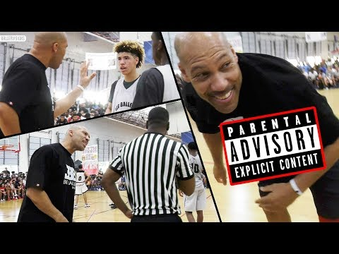 Thumbnail: LaVar Ball UNCENSORED COACHING: PART 1 - Lavar VS AAU Referees in Big Ballers LOSS!