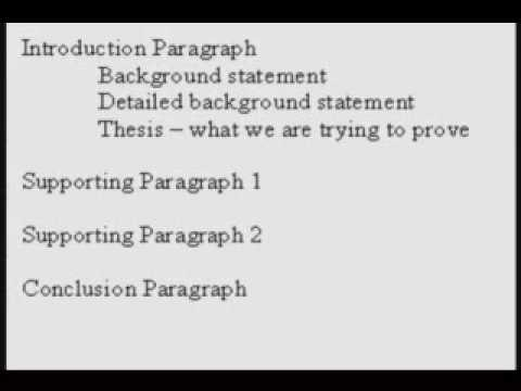 How to write an argument essay outline
