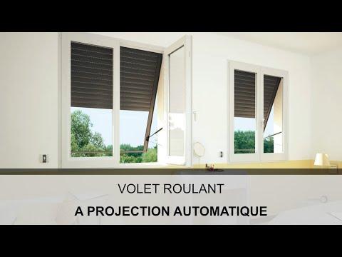 Volet roulant à projection automatisée