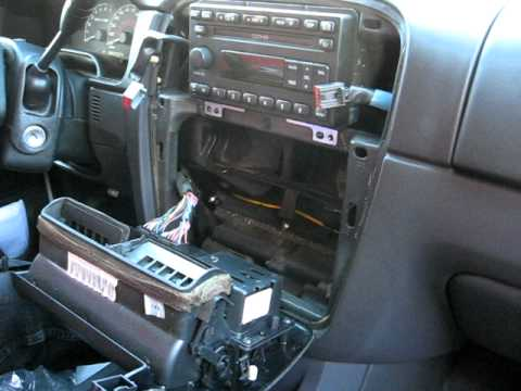 1997 Ford F 150 Radio Wiring How To Remove Radio Cd Changer From 2001 Ford Explorer