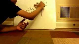 How To Draw A Basketball and B-Ball Hoop