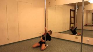Урок на пилоне №15. Крутка Pole Dance средний уровень