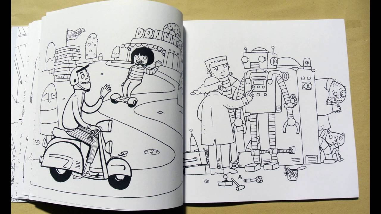 Urban Outliners Series Pop Coloring Book For Adults