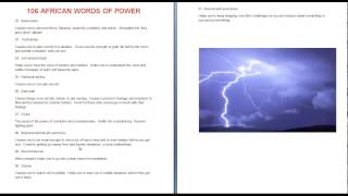 African Words of Power for Manifestation