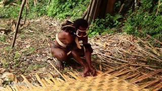 Hand woven bamboo mats