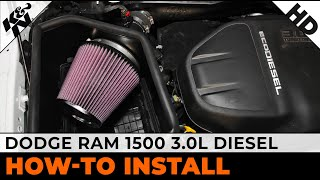 how to install a k air intake on a 2015 dodge ram 1500 3 0l diesel