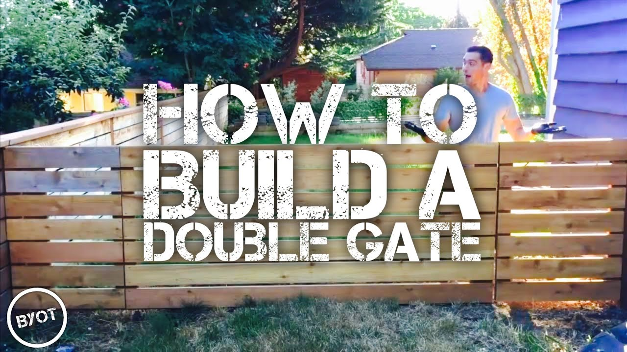 how to build a double gate byot 30 youtube. Black Bedroom Furniture Sets. Home Design Ideas