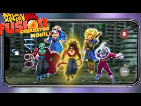 Dragon Ball Fusion Generator Mobile! Super Saiyan 4 and Gine!
