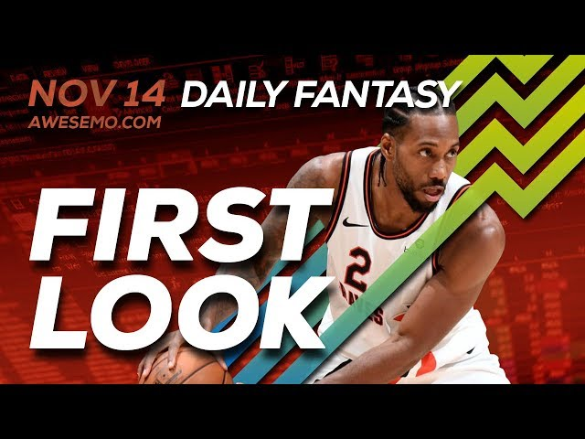 The DFS Early Bird - First Look - NBA Top Plays - 11/14/2019