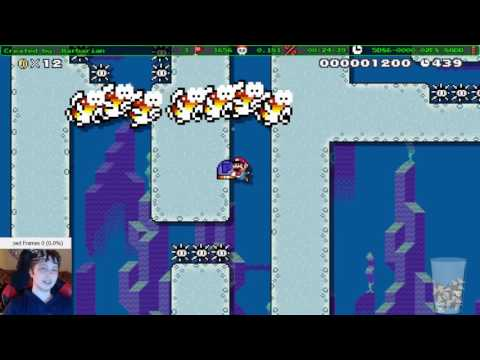 Super Mario Maker - Barb's dumb troll water level
