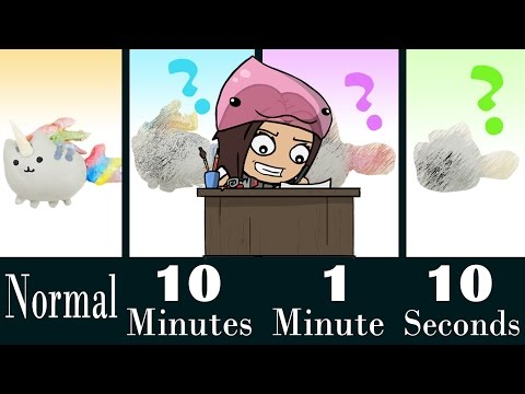 PUSHEEN SPEED CHALLENGE 10 Minutes | 1 Minute | 10 Seconds Craft how to make sculpey clay