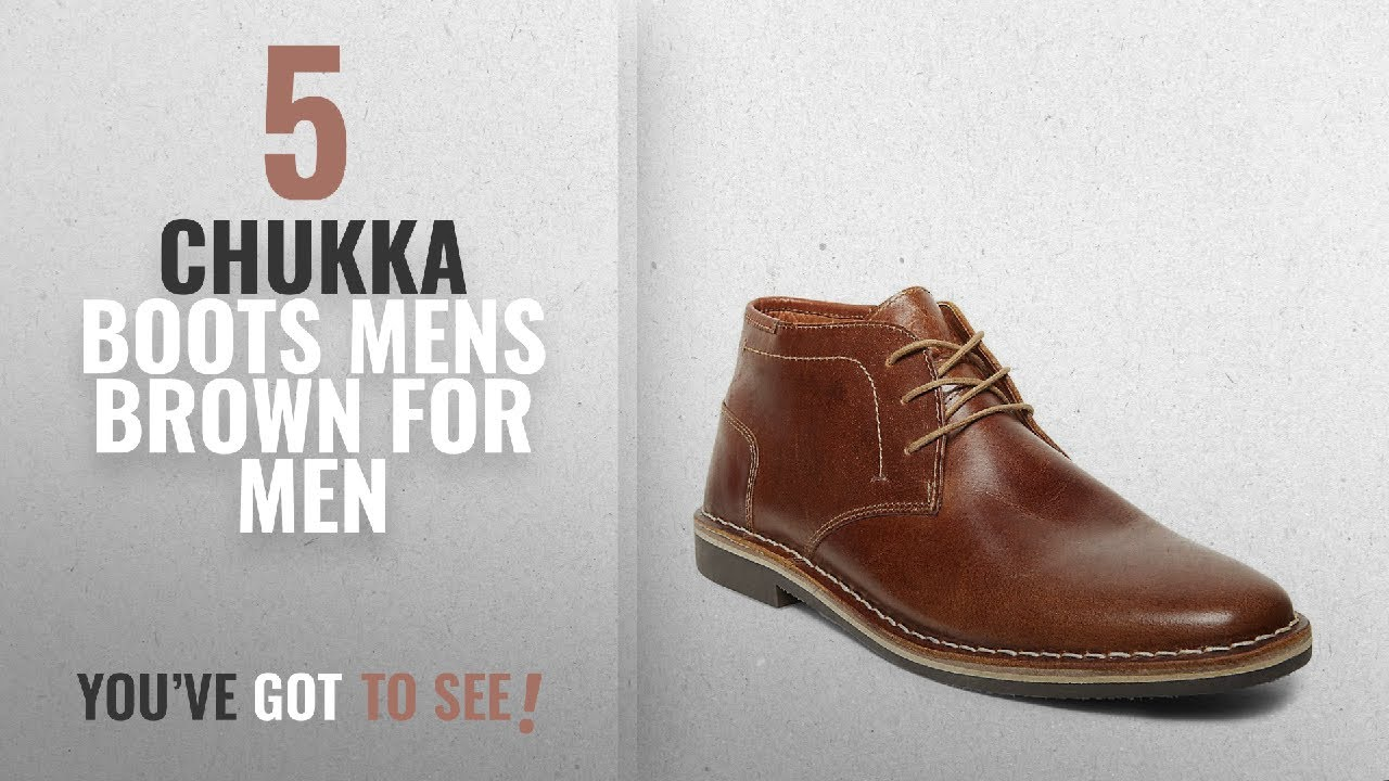 Top 10 Chukka Boots Mens Brown [ Winter 2018 ]: Steve Madden Men's Harken  Chukka BootCognac10 M US