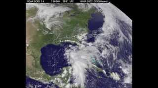 GOES video of Tropical Storm Andrea