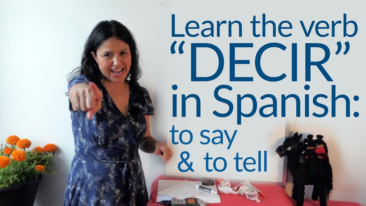 Using the Spanish verb DECIR (say/tell): me dijiste, dime, dijo, te dije, me lo dijiste...