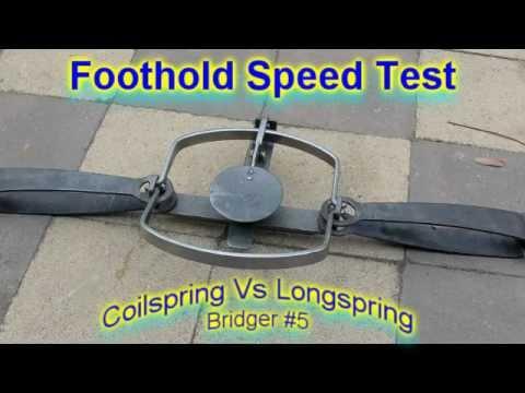 longspring vs coilspring foothold traps - speed test