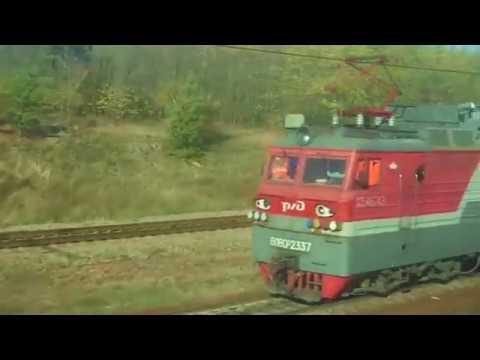 Прибытие и отправление скорого поезда №049Ч Кисловодск - Санкт-Петербург на/со станции Лиски.