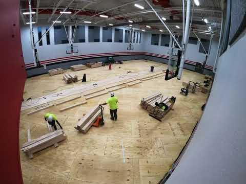 Horizon Elementary - Gym Floor Installation Timelapse