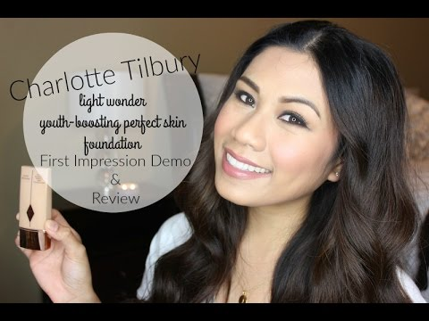 CHARLOTTE TILBURY LIGHT WONDER YOUTH BOOSTING PERFECT SKIN FOUNDATION: DEMO  U0026 REVIEW ♡