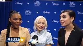 China McClain, Dove Cameron y Sofia Carson hablan sobre el romance en Descendientes 2 (Subtitulado)