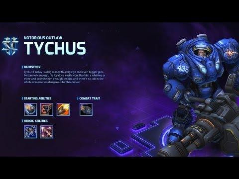 видео: heroes of the storm: Обзор героя tychus.