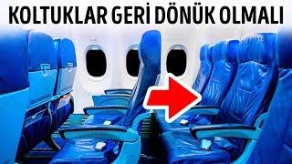 Uçaklardaki Koltukler Neden Yanlış Yöne Dönükler