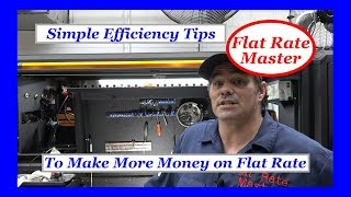 Simple Efficiency Tips To Make More Money on Flat Rate
