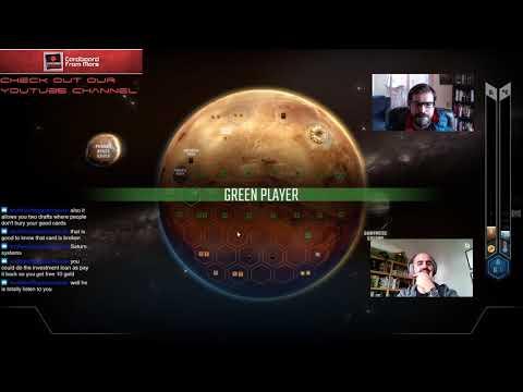 Terraforming Mars - Online Gameplay Video #14 (Draft) - Cardboard from Mars
