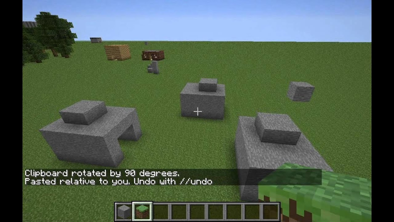 How To Use Copy And Paste In Minecraft Using Worldedit  Singleplayercommands