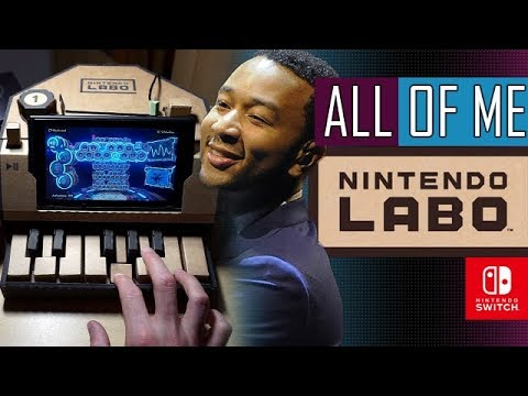 John Legend ALL OF ME - Recorded & Played On NINTENDO SWITCH LABO | Piano Cover