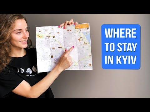 KYIV CITY MAP | INTERACTIVE KIEV MAP IN ENGLISH | KYIV CITY DISTRICTS | WHERE TO STAY IN KYIV