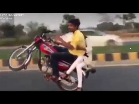 Hamara Haal Na Pucho song |Bike rider |Daring Couple|bike riding 2017
