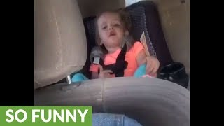 2-year-old attempts to sing classic French song
