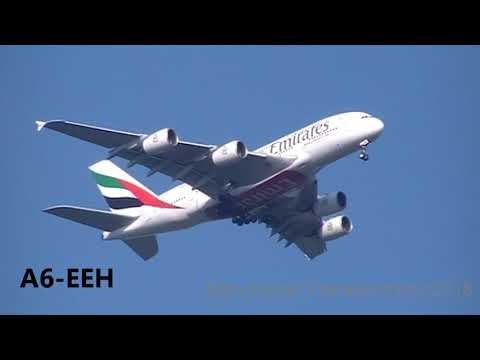 4 Heavys Planes From The East PIA / Emirates / Oman Air / Qatar Heading To Manchester Ap On 18/05/18