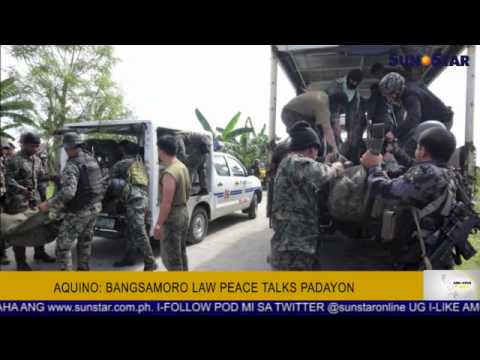 Aquino: Bangsamoro law peace talks padayon
