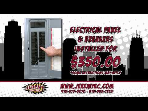 Jeremy Electrical: $350 Electrical Panel Upgrade in Kansas City